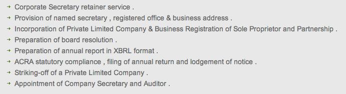 Corporate Secretary Services Plans